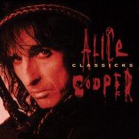 Alice Cooper - Classicks - The Best Of Alice Cooper Translucent Red & Black Swirl Audiophile Tri-Fold Cover/poster