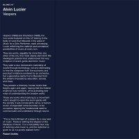 Alvin Lucier - Vespers