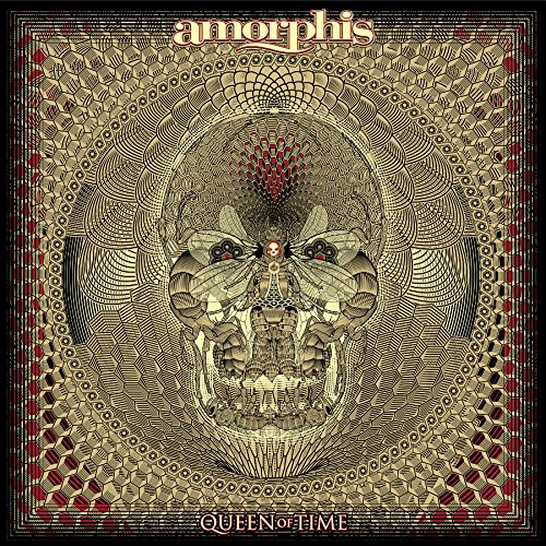 Amorphis - Queen Of Time Red W/ Black Splatter