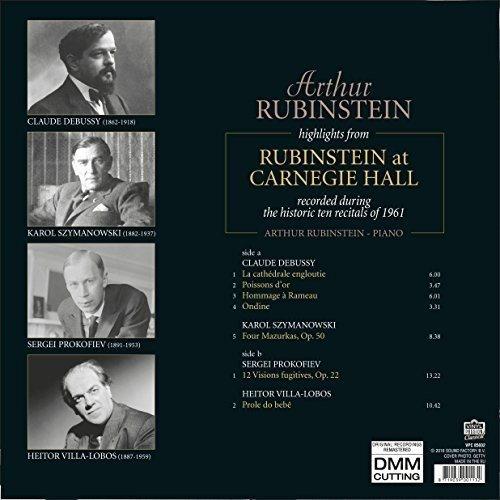 Arthur Rubinstein - Highlights From Rubinstein At Carnegie Hall