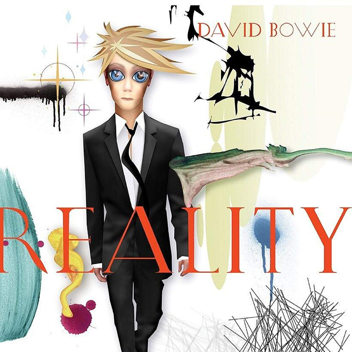 David Bowie - Reality Translucent Gold & Blue Swirl Audiophile Limited Anniversary Edition/tri-Fold Cover