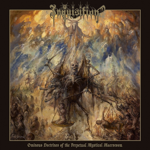 Inquisition - Ominous Doctrines Of The Perpetual Mystical Macrocosm Ltd. Ed. Solid Blue, White & Black Mixed