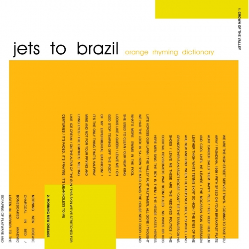Jets To Brazil Orange Rhyming Dictionary Clear
