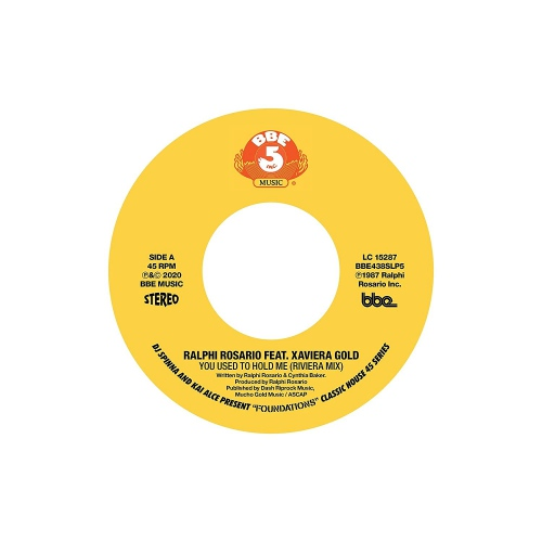 """Kai Alce Dj Spinna - Dj Spinna & Kai Alce Present: """"Foundations"""" - Classic House 45 Series Part 5: Ralphi Rosario Ft Xaviera Gold - You Used To Hold Me"""