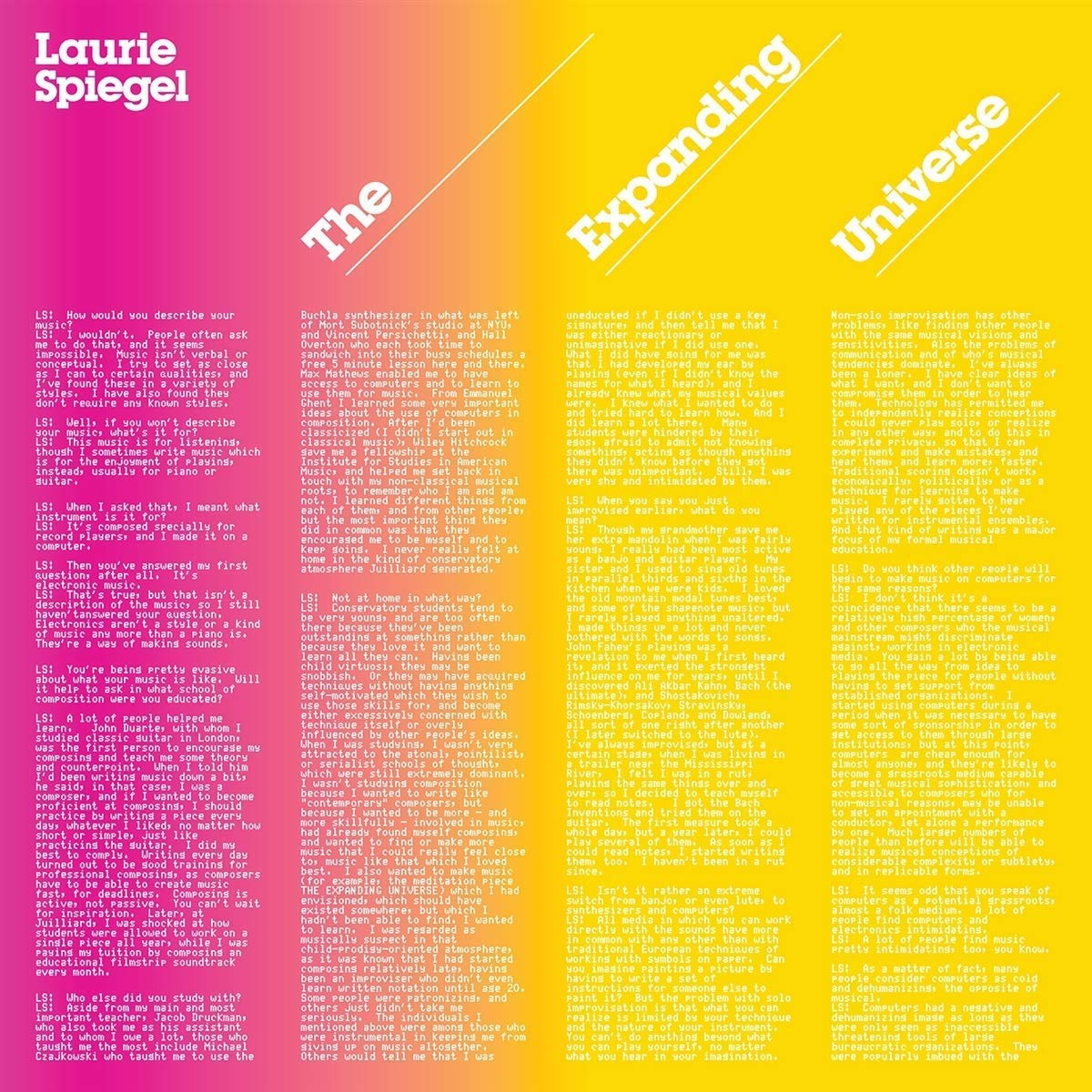 Laurie Spiegel - The Expanding Universe