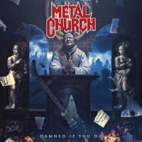 Metal Church -Damned If You Do Blue & Black Splatter