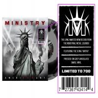Ministry - Amerikkkant Black & Grey Swirl
