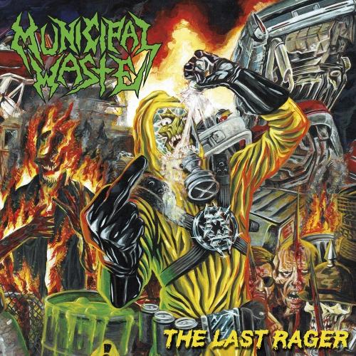 Municipal Waste - The Last Rager Yellow/blue Splatter