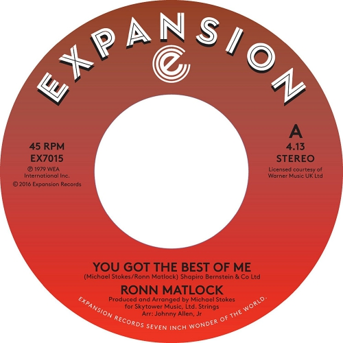 Ronn Matlock - You Got The Best Of Me / I Can