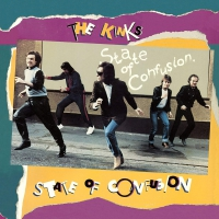 The Kinks - State Of Confusion Audiophile Clear With Blue & Gold Swirl Poster