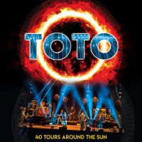 Toto -40 Tours Around The Sun Blue/orange Starburst Swirl