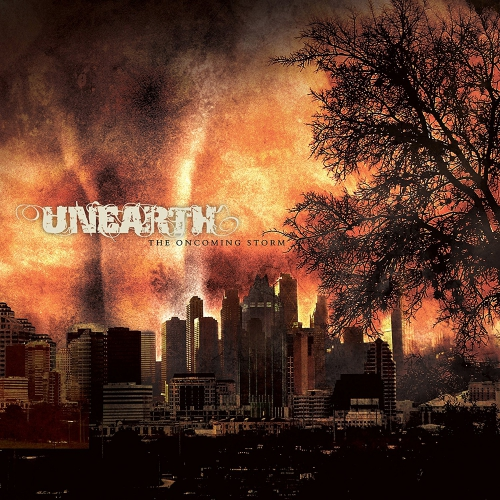 Unearth - The Oncoming Storm - Gold / Black Split