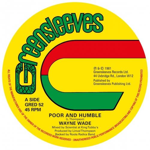 Wayne Wade -Poor And Humble / Bunny Lie Lie - Babylonian