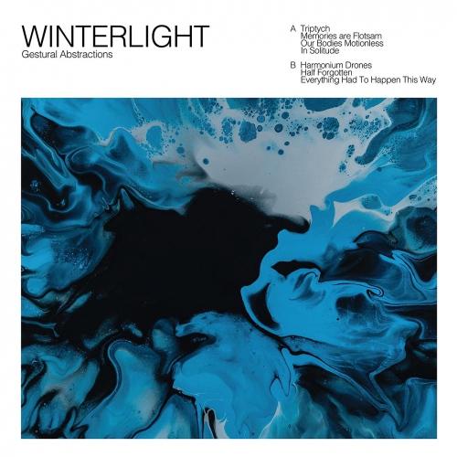 Winterlight (Blue With Black Splatter Vinyl) - Gestural Abstractions