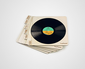 TunePhonik Wooden Record Dividers